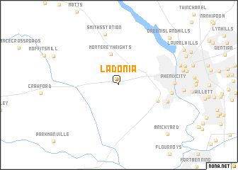 map of Ladonia