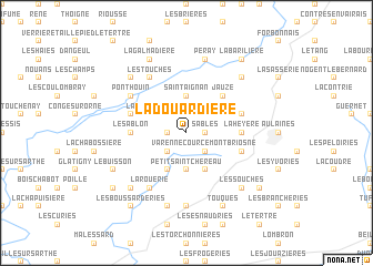 map of La Douardière