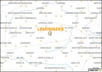 map of La Driauderie