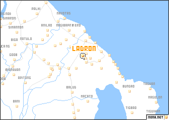 map of Ladron