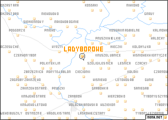 map of Łady Borowe