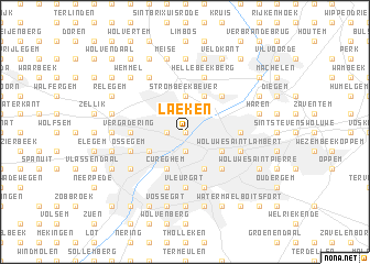 map of Laeken