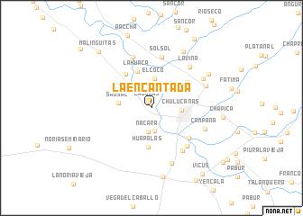 map of La Encantada