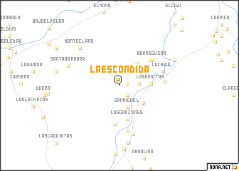 map of La Escondida