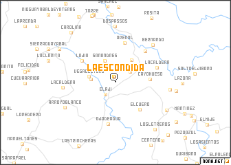 map of La Escondida