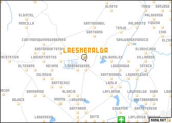 map of La Esmeralda