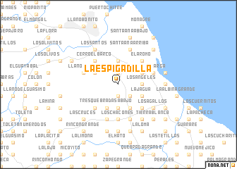 map of La Espigadilla