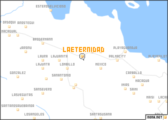 map of La Eternidad