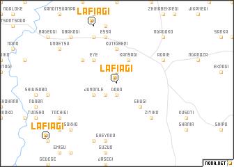 map of Lafiagi