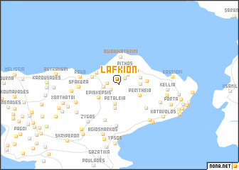 map of Láfkion