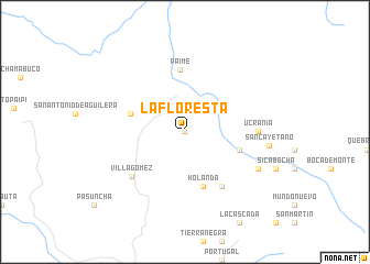 map of La Floresta