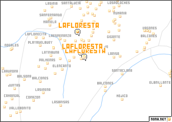 map of La Floresta