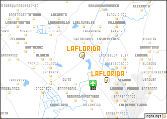 map of La Florida