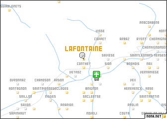 map of La Fontaine