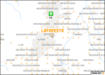 map of La Foresta