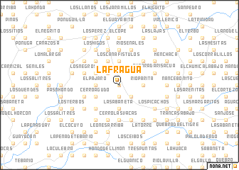 map of La Fragua