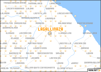 map of La Gallinaza