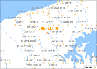 map of La Gallina