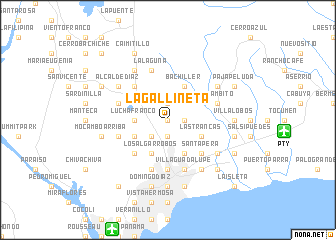 map of La Gallineta