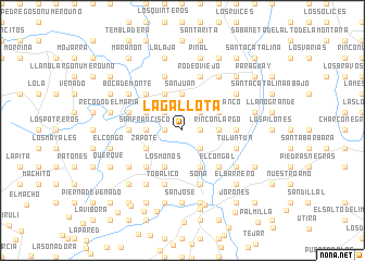 map of La Gallota