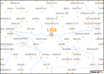 map of Lage
