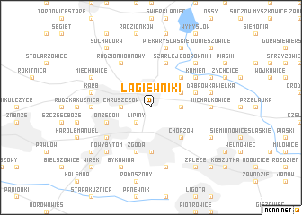 map of Łagiewniki