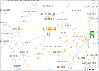 map of La Gira