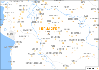 map of Lagjja e Re