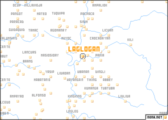 map of Laglogan