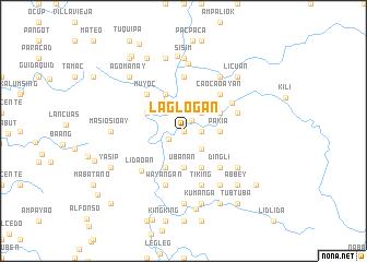 map of Laglogan