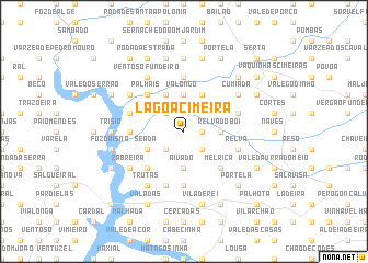 map of Lagoa Cimeira