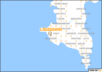 map of Lagoudhiaí
