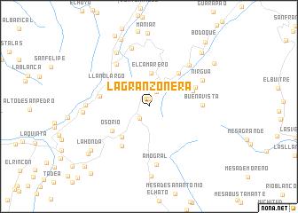 map of La Granzonera