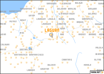 map of Laguan