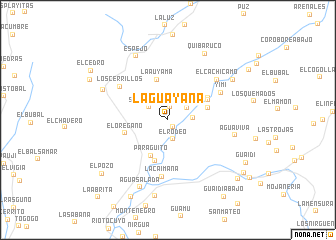 map of La Guayana