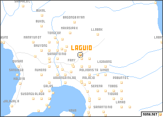 map of Laguio