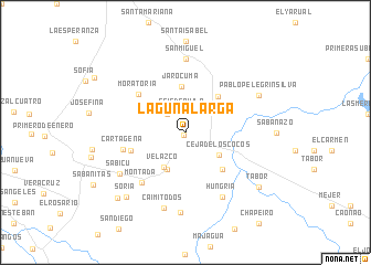 map of Laguna Larga