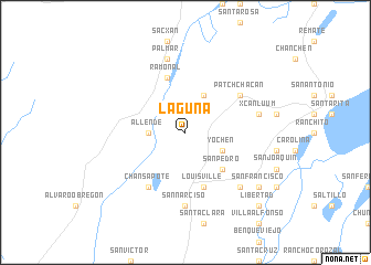 map of Laguna