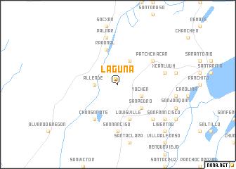map of Laguna