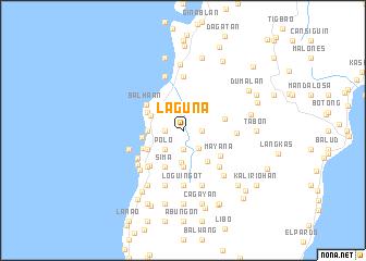 Laguna (Philippines) map   nona.net