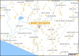 map of La Hachadura