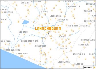 map of La Hachadura