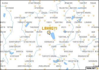 map of Lahagyi