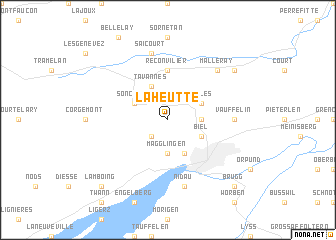 map of La Heutte