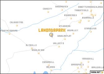map of La Honda Park