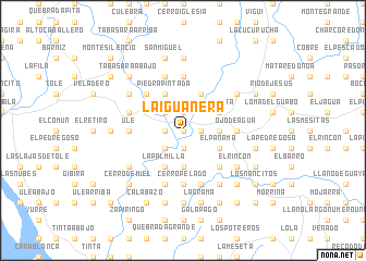map of La Iguanera
