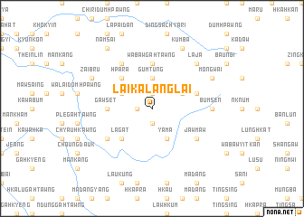 map of Laika-lānglai