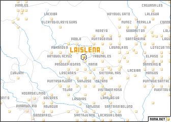 map of La Isleña