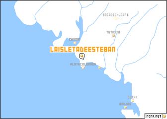 map of La Isleta de Esteban