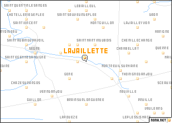 map of La Jaillette